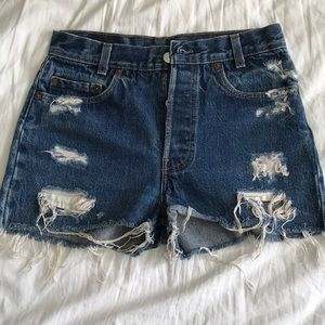 Vintage Levi shorts from Urban Outfitters